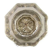1 Inch Old Town Crystal Cabinet Knob (Antique Nickel Base)