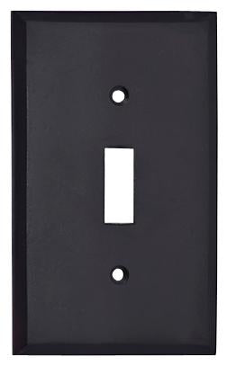 4 1/2 Inch Solid Brass Traditional Switch Plate (Oil Rubbed Bronze)