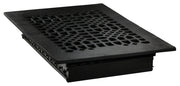 Black Iron Louvered Register: 12 Inch x 8 Inch