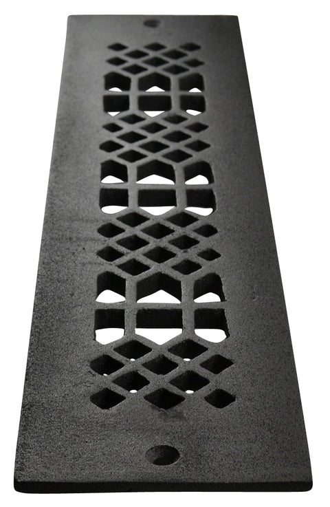Black Iron Grille: 14 Inch x 2 Inch