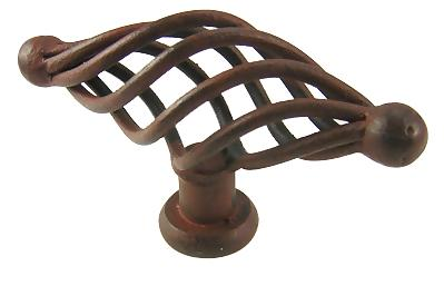 2 3/4 Inch Saxon Wrought Iron Knob (Natural Rust Finish)