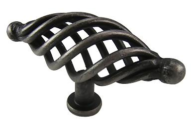 3 1/2 Inch Saxon Wrought Iron Knob (Wrought Iron Finish)