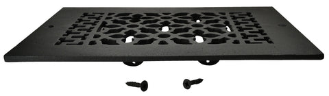 Black Iron Grille: 10 Inch x 6 Inch