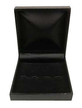 Black Faux Leather Salt Spoon Gift Box