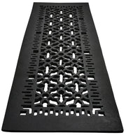 Black Iron Grille: 29 3/4 Inch x 8 Inch