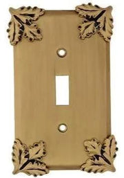 Oak Leaf Wall Plate (Antique Brass Gold Finish)