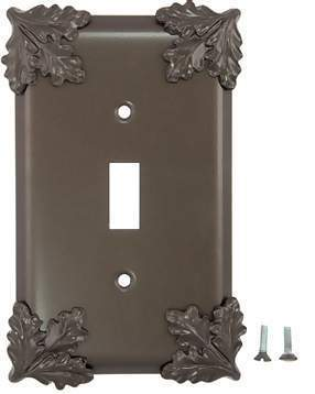 Oak Leaf Wall Plate (Oil Rubbed Bronze)