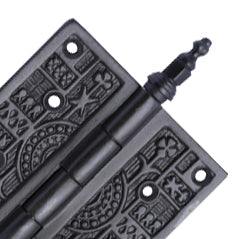 4 x 4 Steeple Tipped Victorian Solid Brass Hinge (Oil Rubbed Bronze Finish)