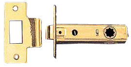 Solid Brass 2 3/8 Inch Tubular Passage Latch Backset (Polished Brass Finish)