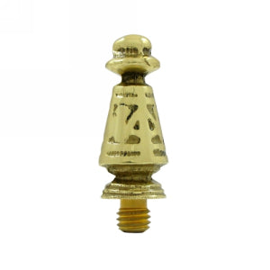 1 7/16 Inch Solid Brass Ornate Hinge Finial (Polished Brass Finish)