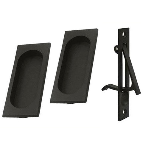 Square Style Single Pocket Passage Style Door Set (Oil Rubbed Bronze Finish)