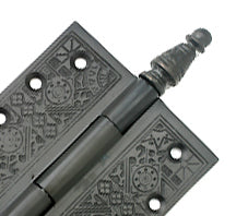 3 1/2 x 3 1/2 Inch Victorian Steeple Tip Style Hinge (Oil Rubbed Bronze)