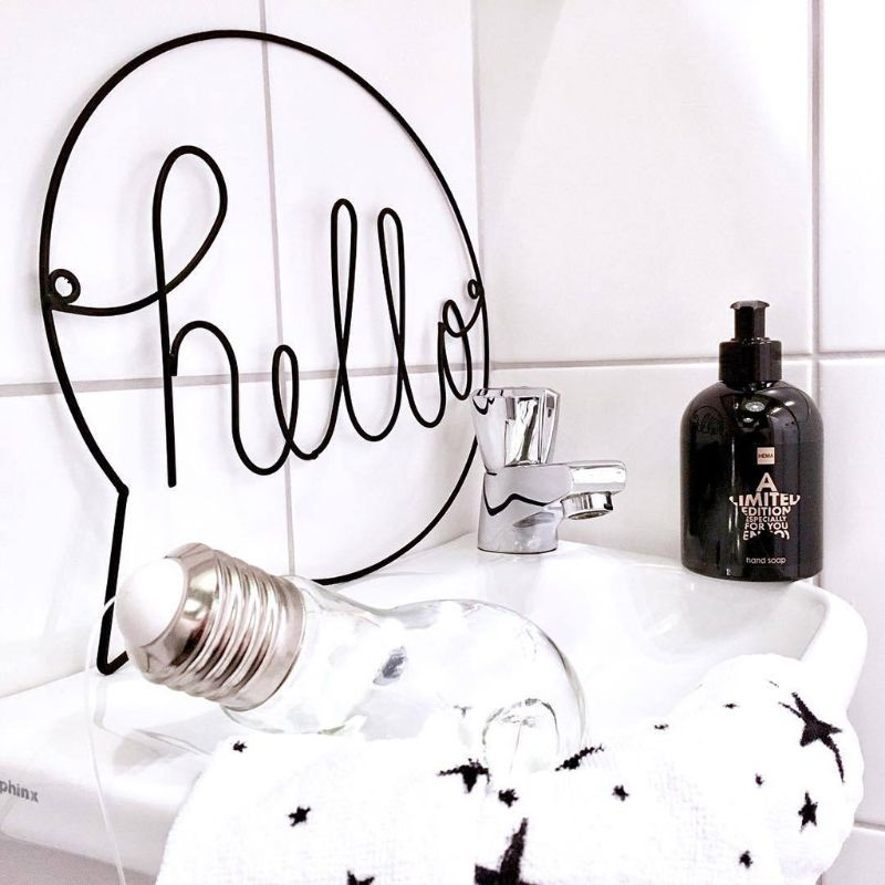 Letrero Decorativo Hello