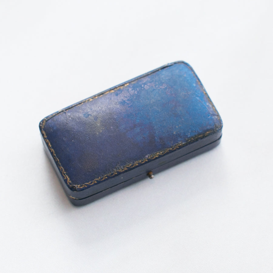 Blue Push Button Vintage Ring Box - thestylingmat