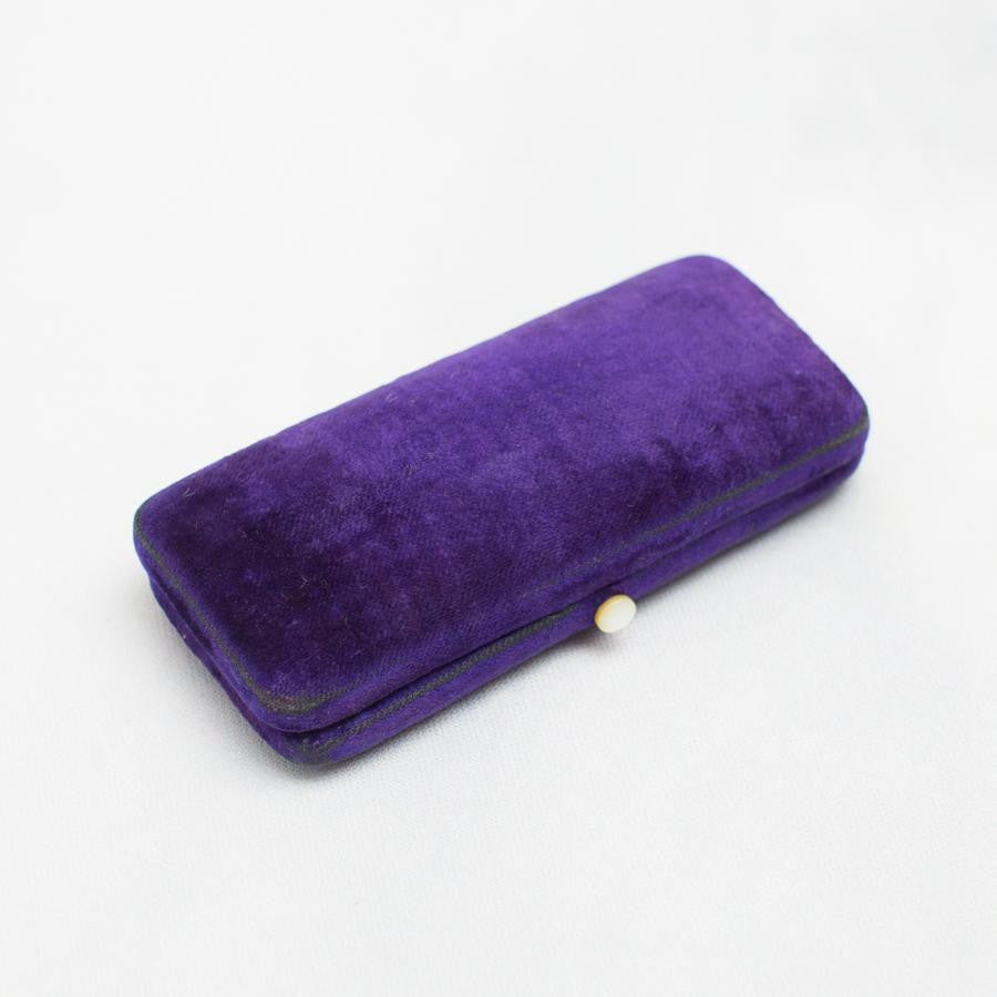 Purple Velvet Vintage Ring Box - thestylingmat