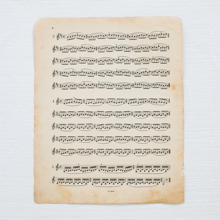 Antique Music Sheets