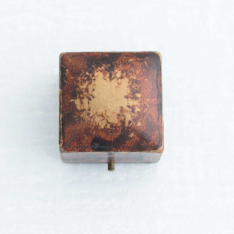 Brown Vintage Ring Box