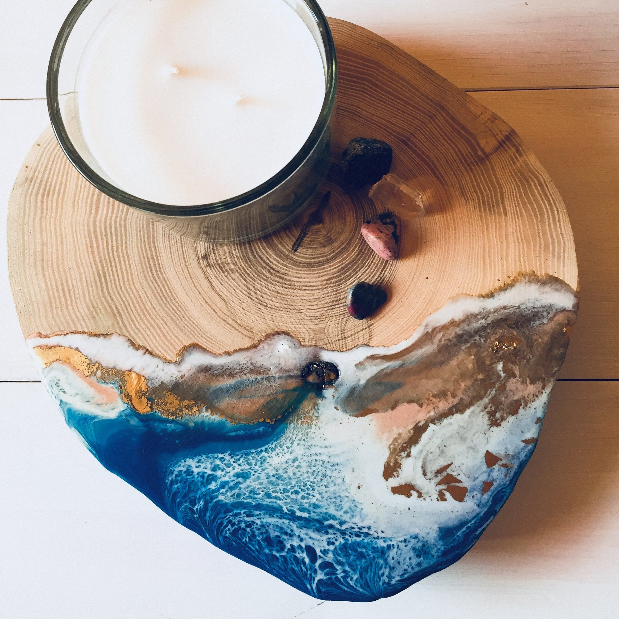 Round Wood and Resin Platter by Milasoo Designer for Rubble, Marketplace for interior design creators