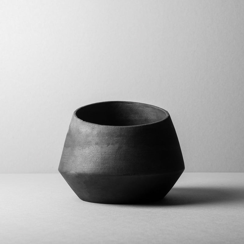 Rubble Interior Design Marketplace, Alguidar L Black Ceramic Pot by Bisarro Ceramics Designer