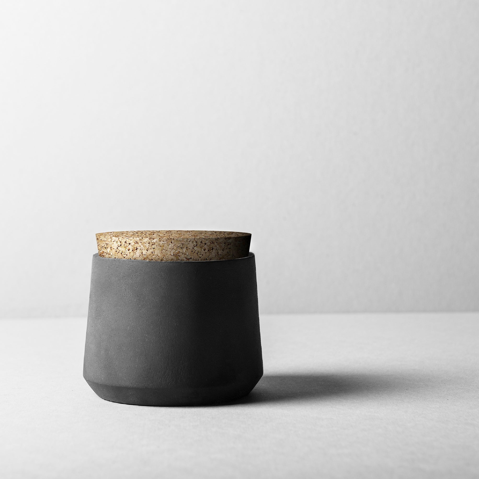 Rubble Interior Design Marketplace, Batoque Black Ceramic Pot Cannister by Bisarro Ceramics Designer