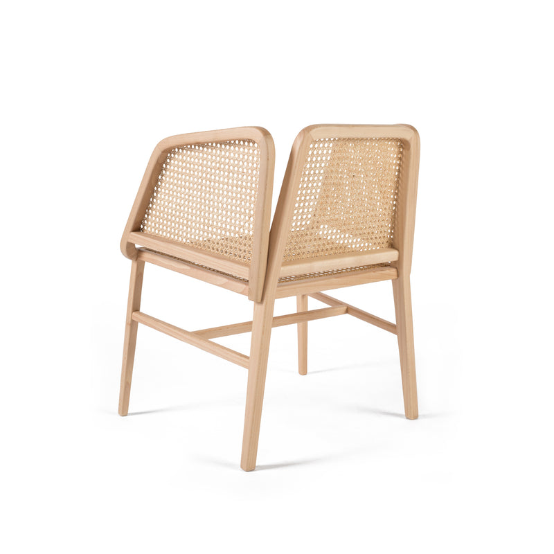 Rubble Interior Design Marketplace, Bee Wood and Rattan Dining or Lounge Chair by Miguel Soeiro Porventura
