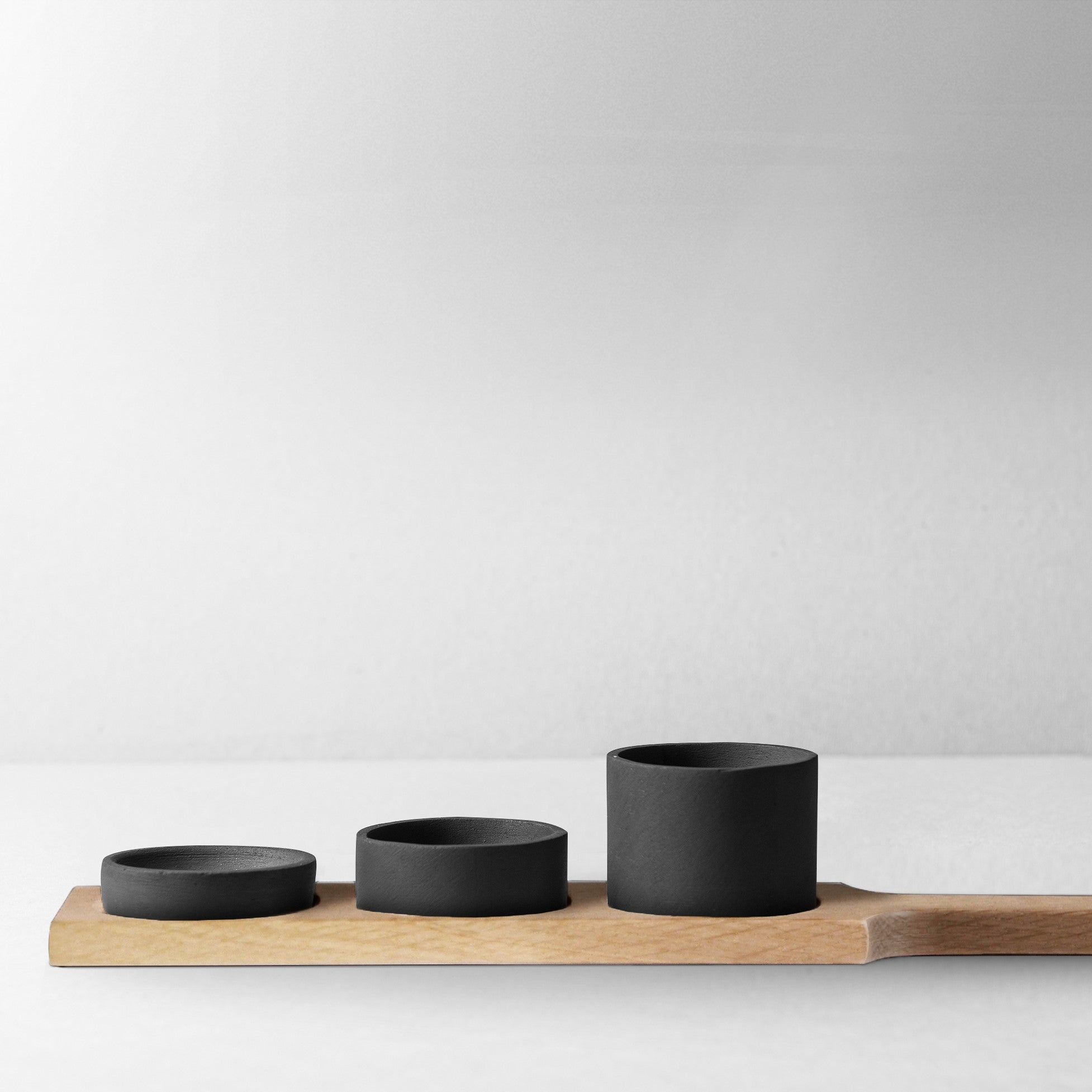 Rubble Interior Design Marketplace, Cibo Black Ceramic and Wood Cannister by Bisarro Ceramics