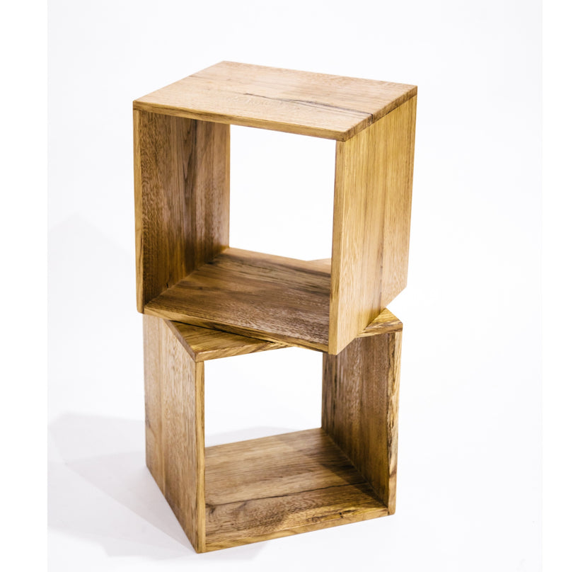 Cobu Oak Wood Night Stand or Side Table by Apewood João Maria Bernardino Designer