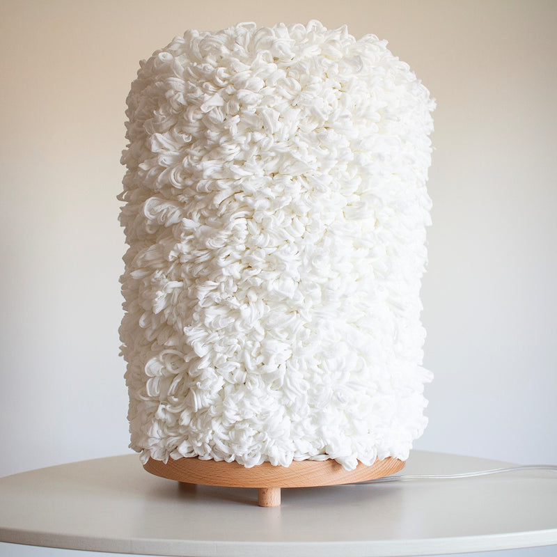 Rubble Inerior Design Marketplace, Dreams 2L Silk, Wood and Acrylic Table Lamp by Margarida Valente