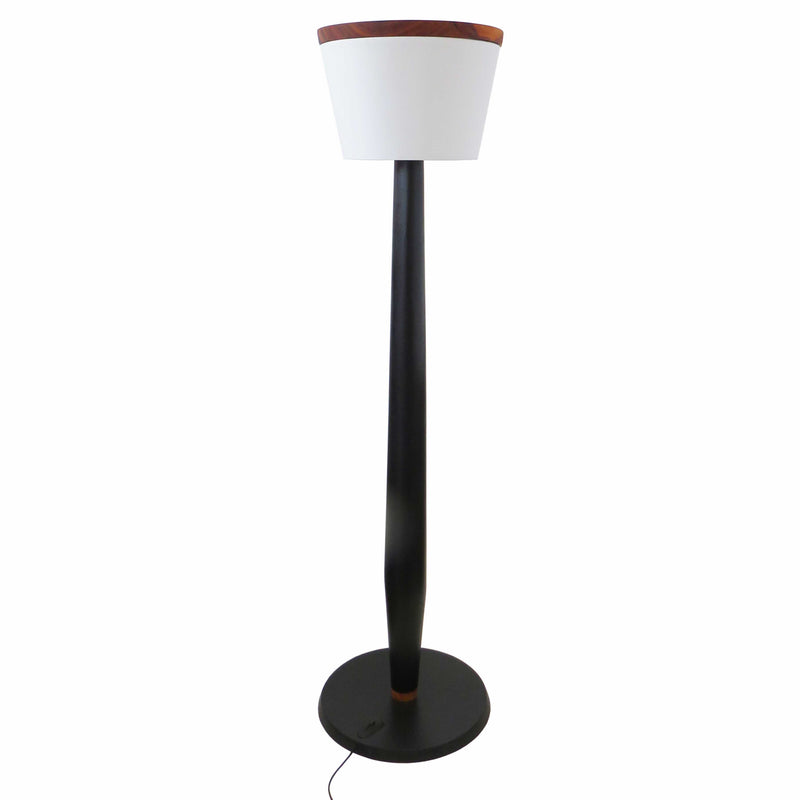 Rubble Inerior Design Marketplace, Dublin Tall Lamp with Muiracatiara Wood by Londrina Woodworks