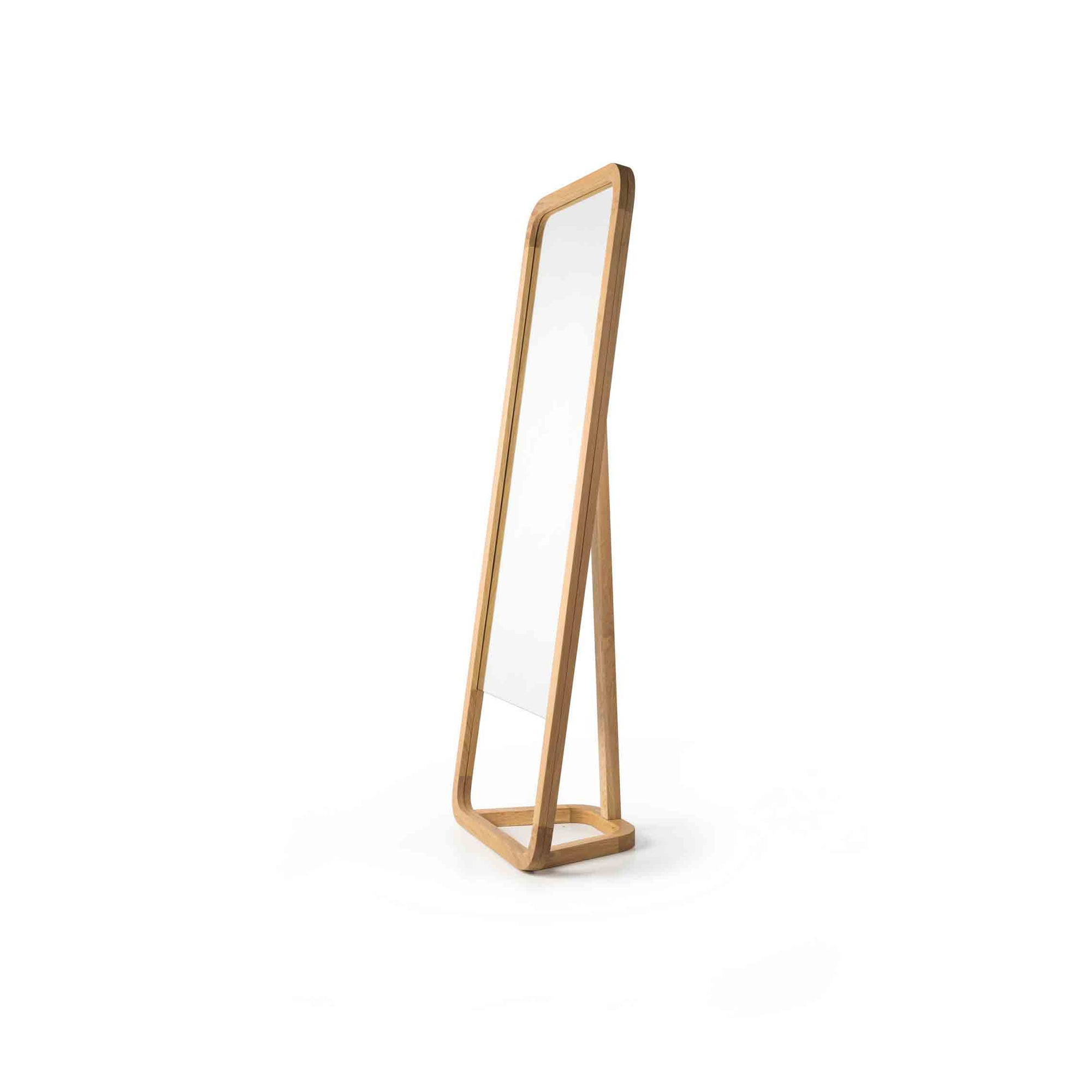 Rubble Inerior Design Marketplace, Lazy Oak Wood Standing Mirror by Miguel Soeiro Porventura