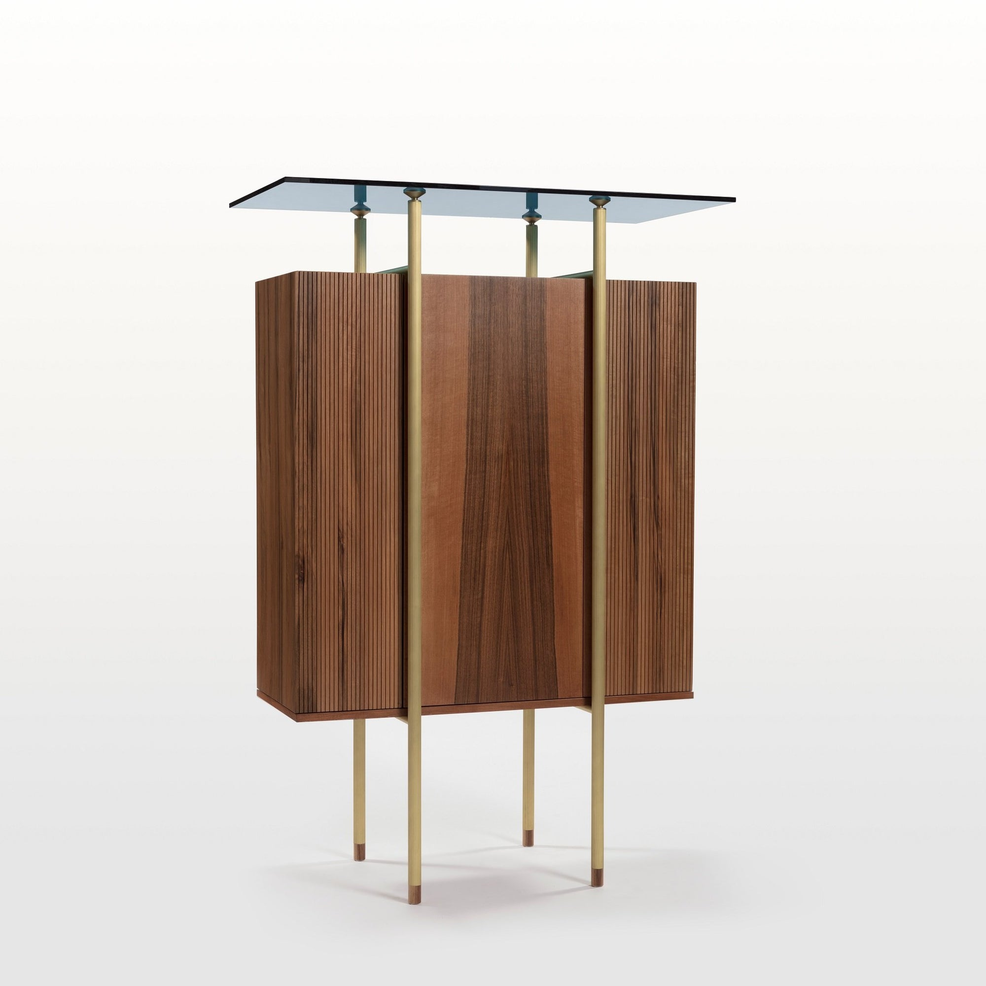 Serica Italian walnut cabinet by Viviana Degrandi and Medulum for Rubble marketplace for interior designers