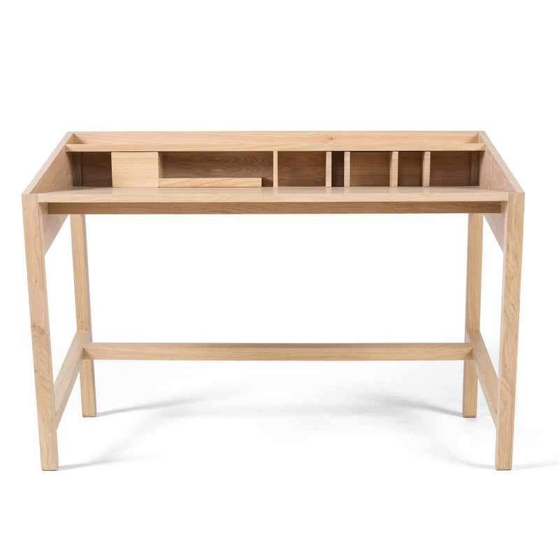 Rubble Interior Design Marketplace, Torta Oak American Walnut Wood Desk by Designer Miguel Soeiro Porventura