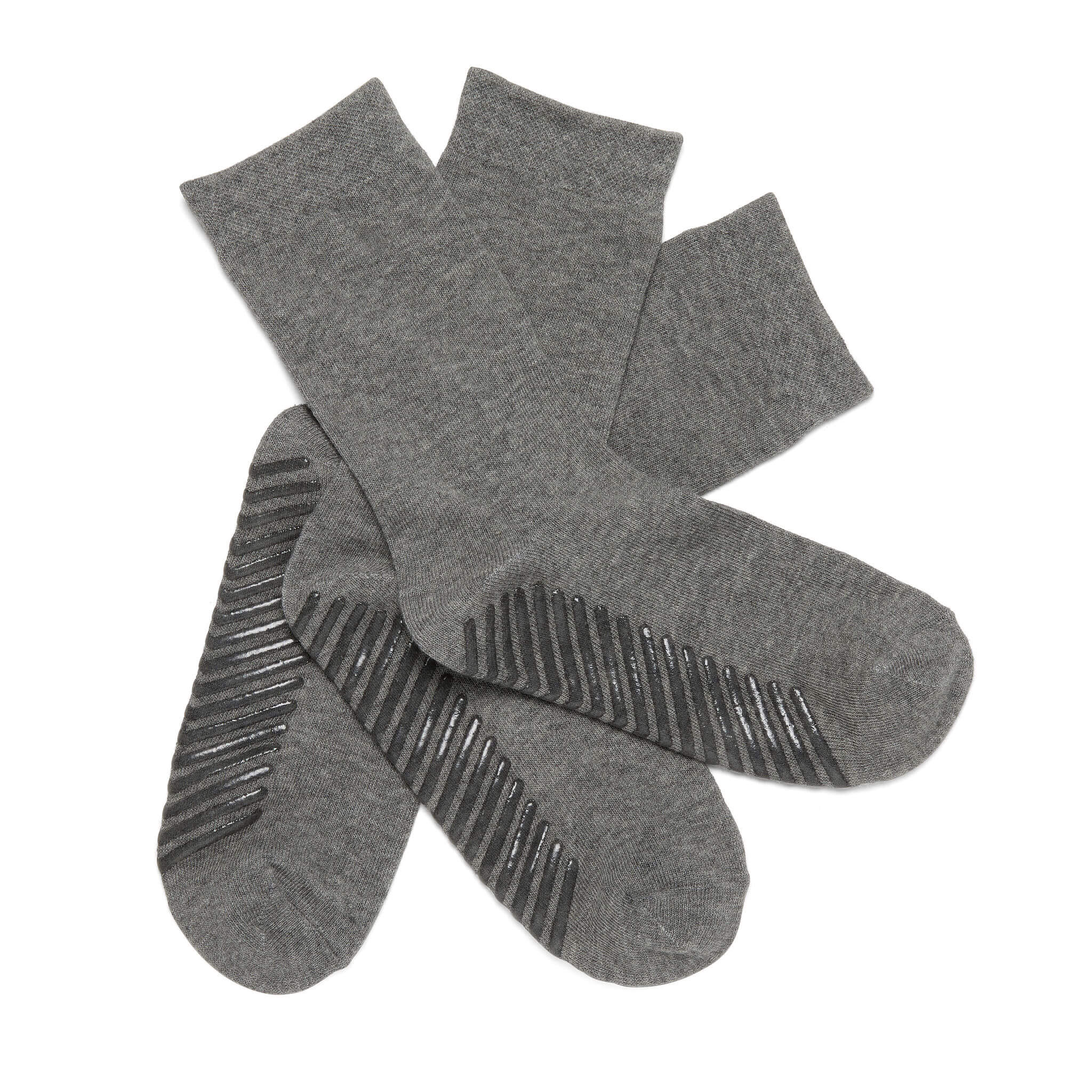 Gripjoy Crew Grip Socks Light Grey - 3 Pairs - Gripjoy Socks