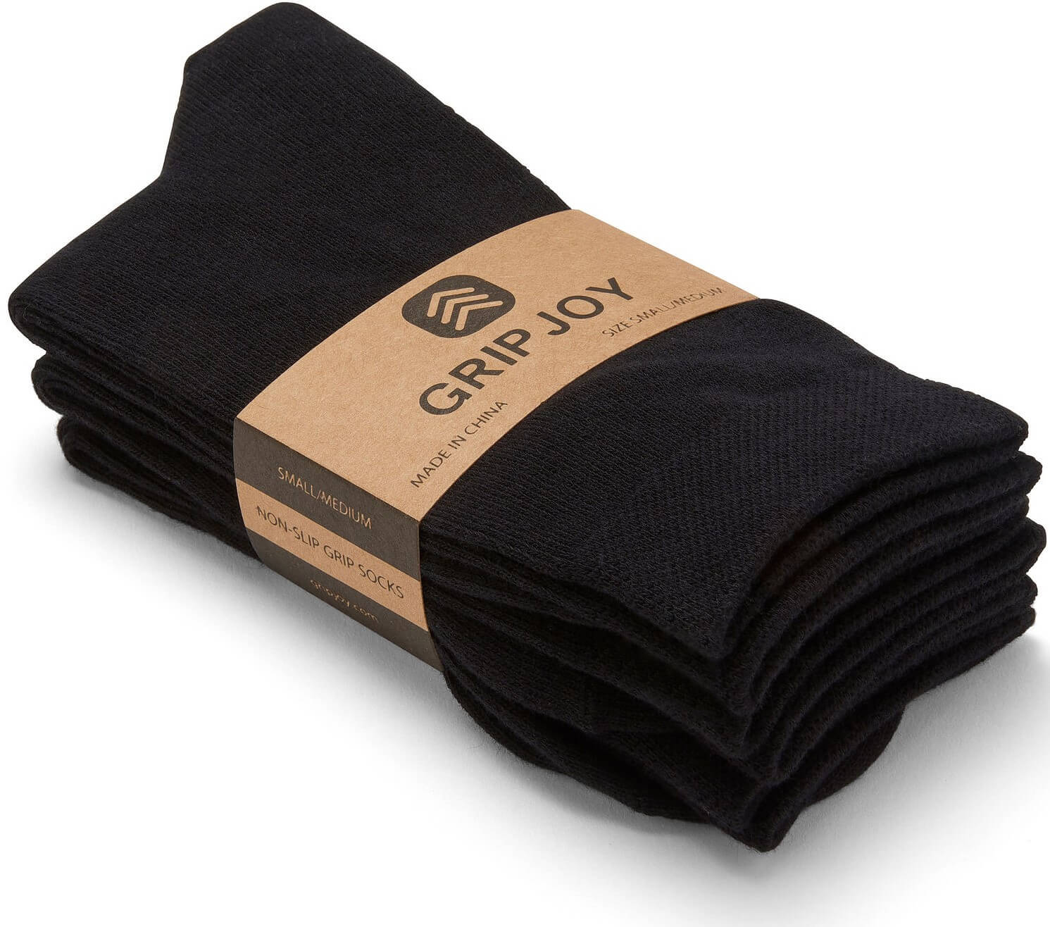 Gripjoy Men's Crew Grip Socks Black 3-Pack - Gripjoy Socks