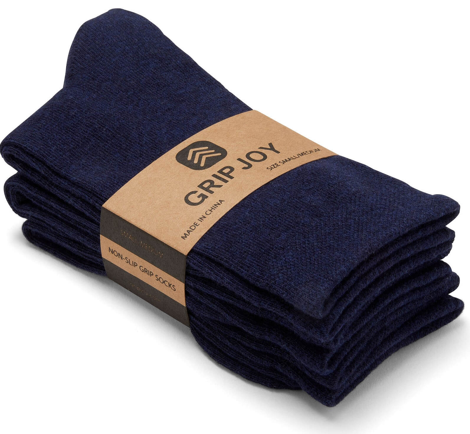 Gripjoy Women's Crew Grip Socks Navy 3-Pack - Gripjoy Socks
