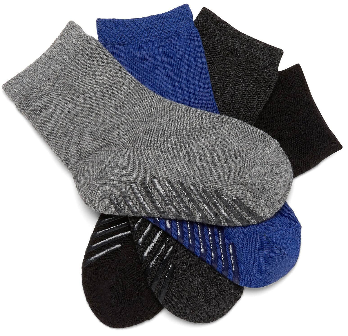 Grip Socks for Toddlers & Kids 2-4 Years 4-Pack - Gripjoy Socks