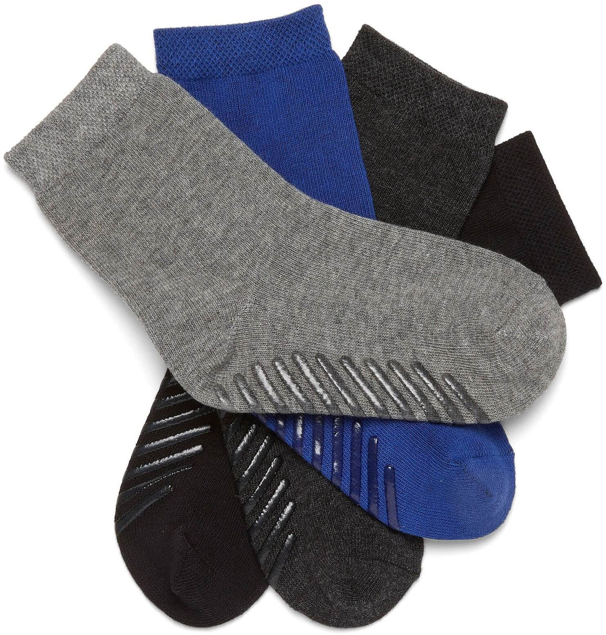 Grip Socks for Toddlers & Kids 4-6 Years 4-Pack - Gripjoy Socks