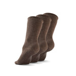 Gripjoy Men's Crew Grip Socks Brown 3-Pack - Gripjoy Socks