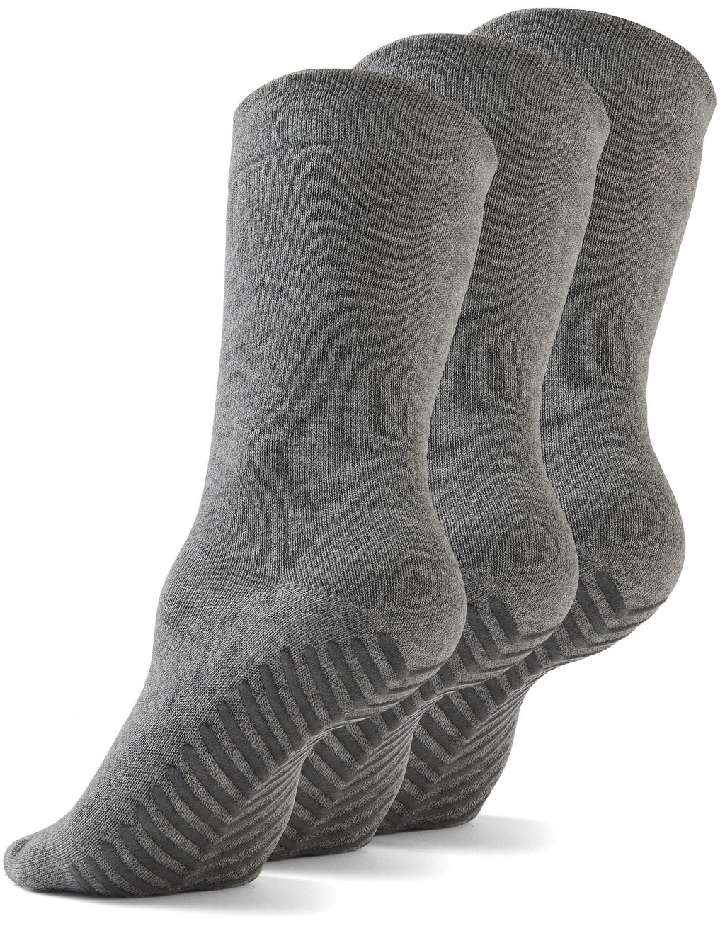 Gripjoy Men's Crew Grip Socks Light Grey 3-Pack - Gripjoy Socks