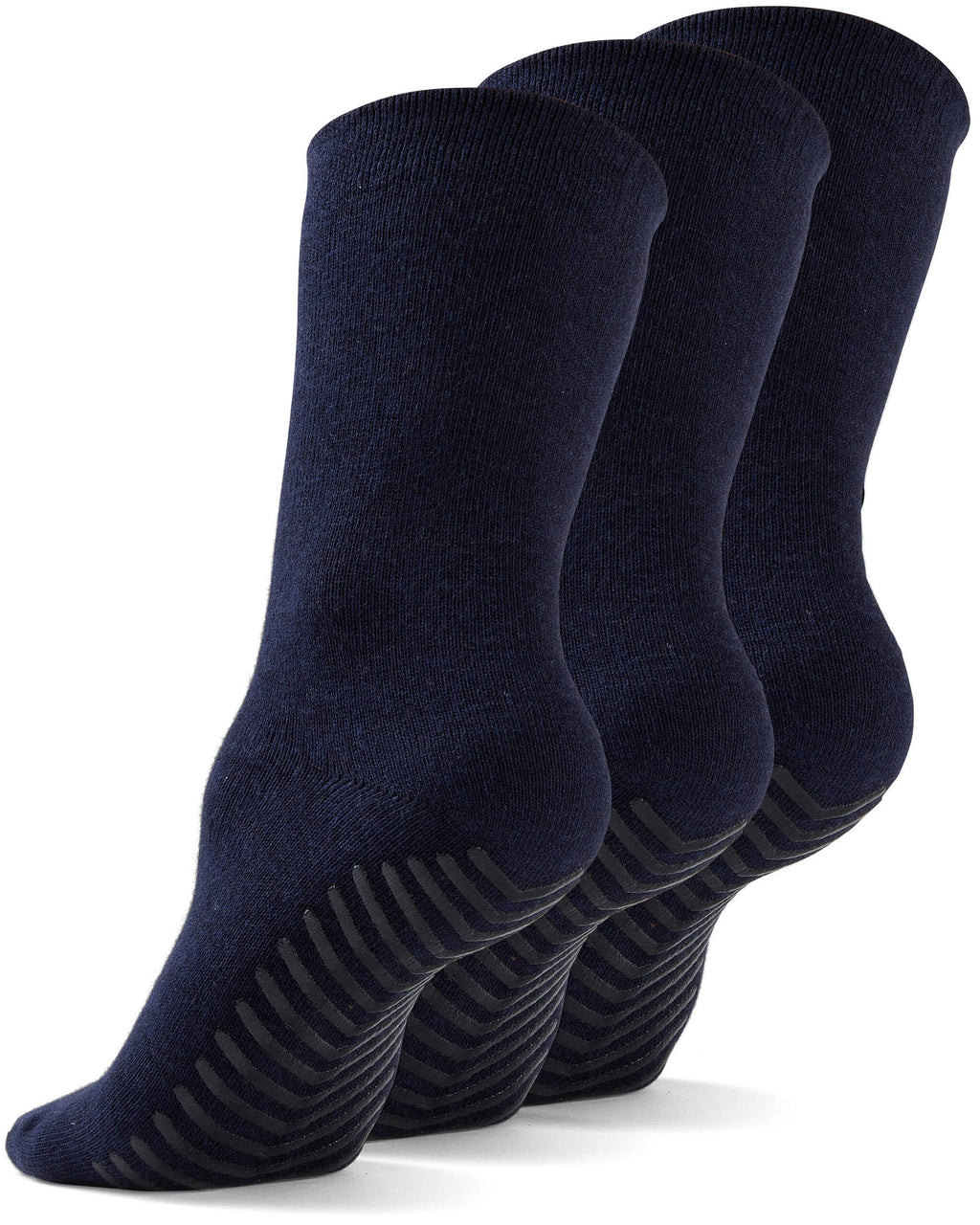 Gripjoy Men's Crew Grip Socks Navy 3-Pack - Gripjoy Socks