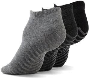 Gripjoy Low Cut Grip Socks Black/Lt Grey/Dk Grey - 3 Pairs - Gripjoy Socks