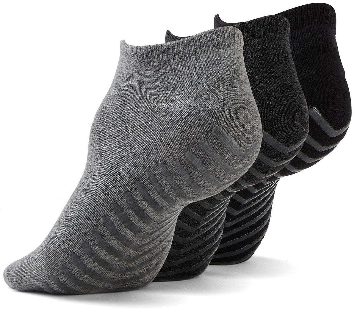 Men's Grip Socks - Ankle Socks with Non Skid x3 Pairs - Gripjoy Socks