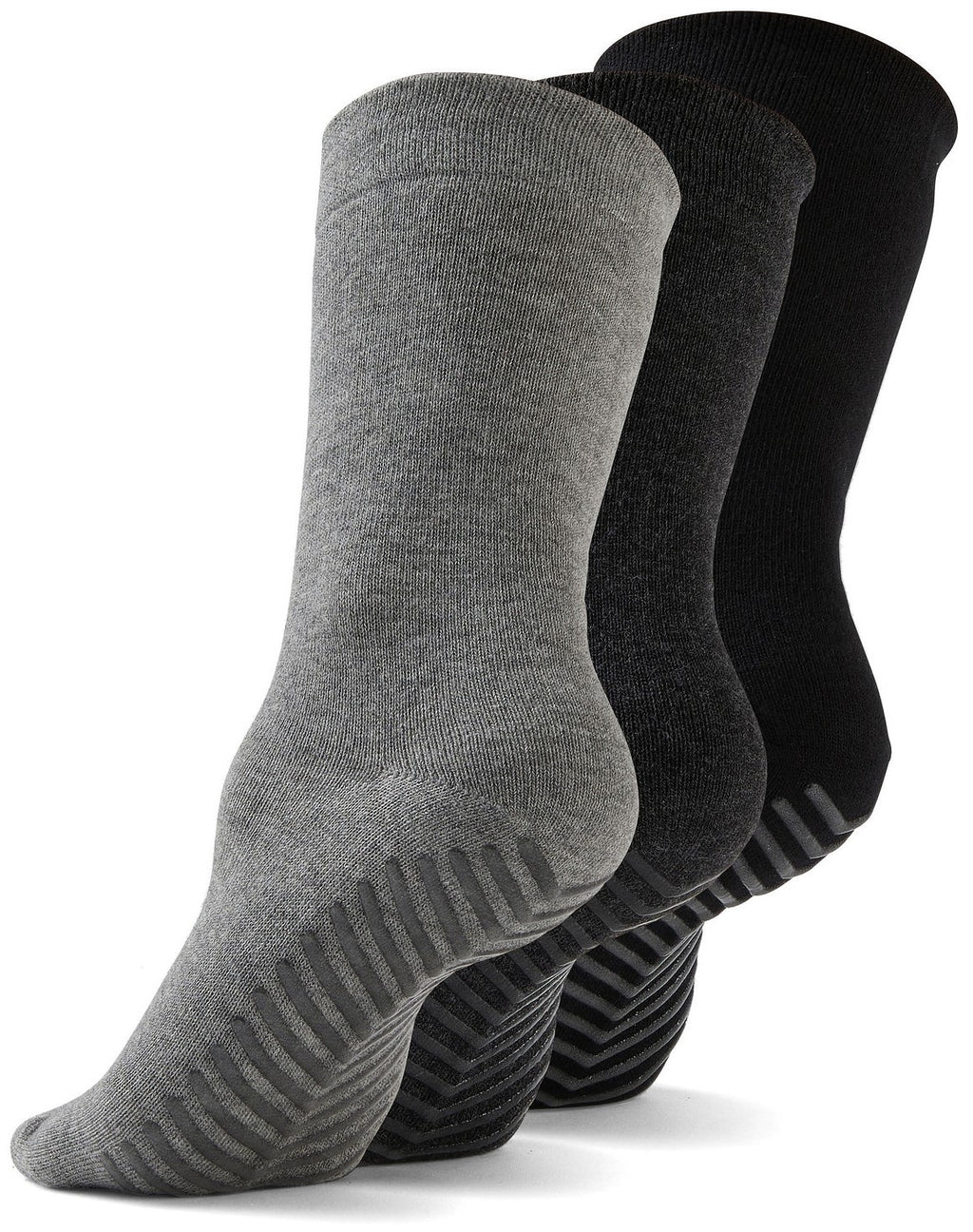 Gripjoy Men's Crew Grip Socks Black & Greys 3-Pack - Gripjoy Socks