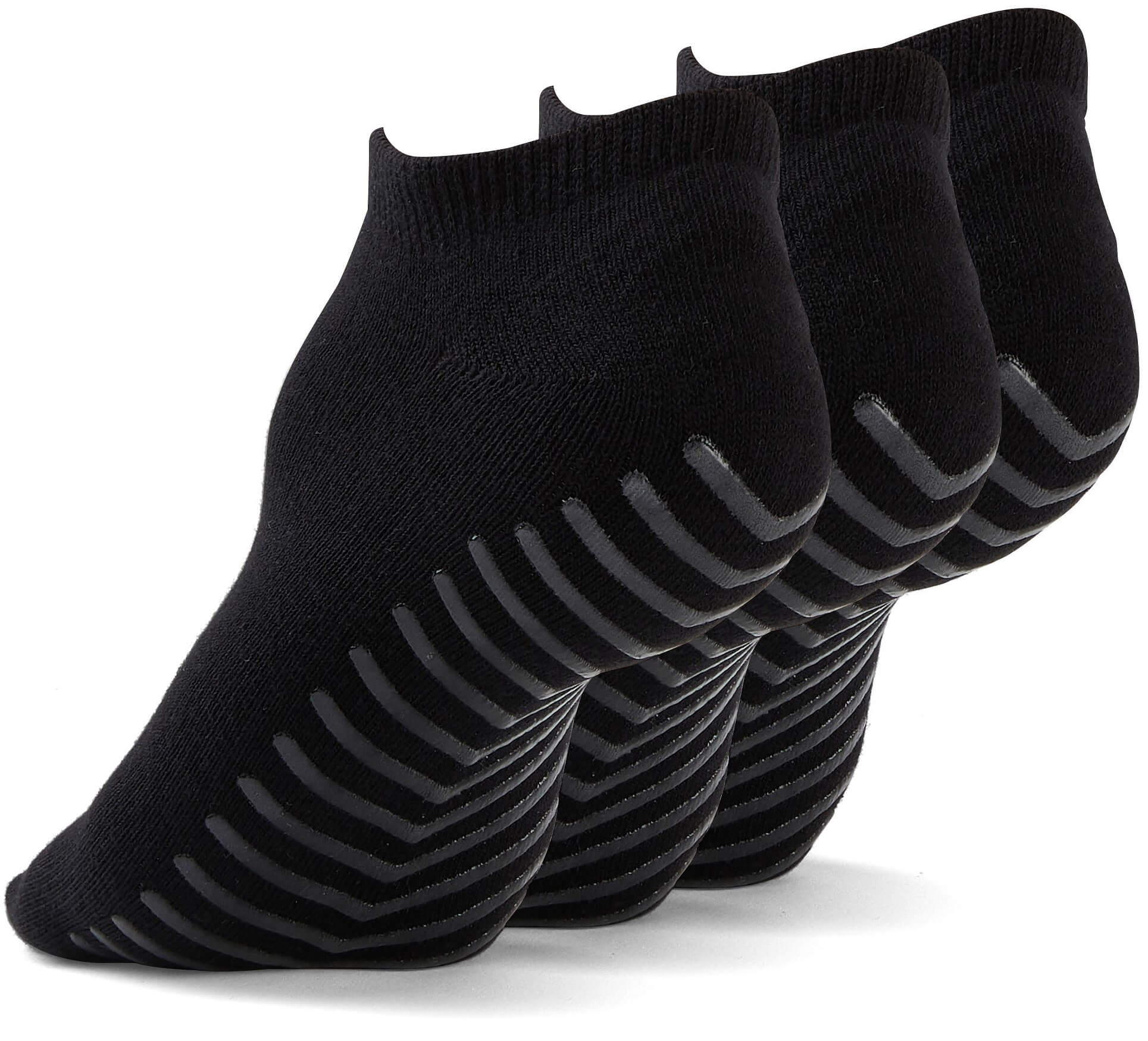 Gripjoy Men's Ankle Grip Socks Black 3-Pack - Gripjoy Socks