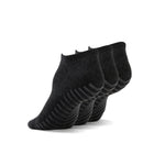 Gripjoy Women's Ankle Grip Socks Dark Grey 3-Pack - Gripjoy Socks
