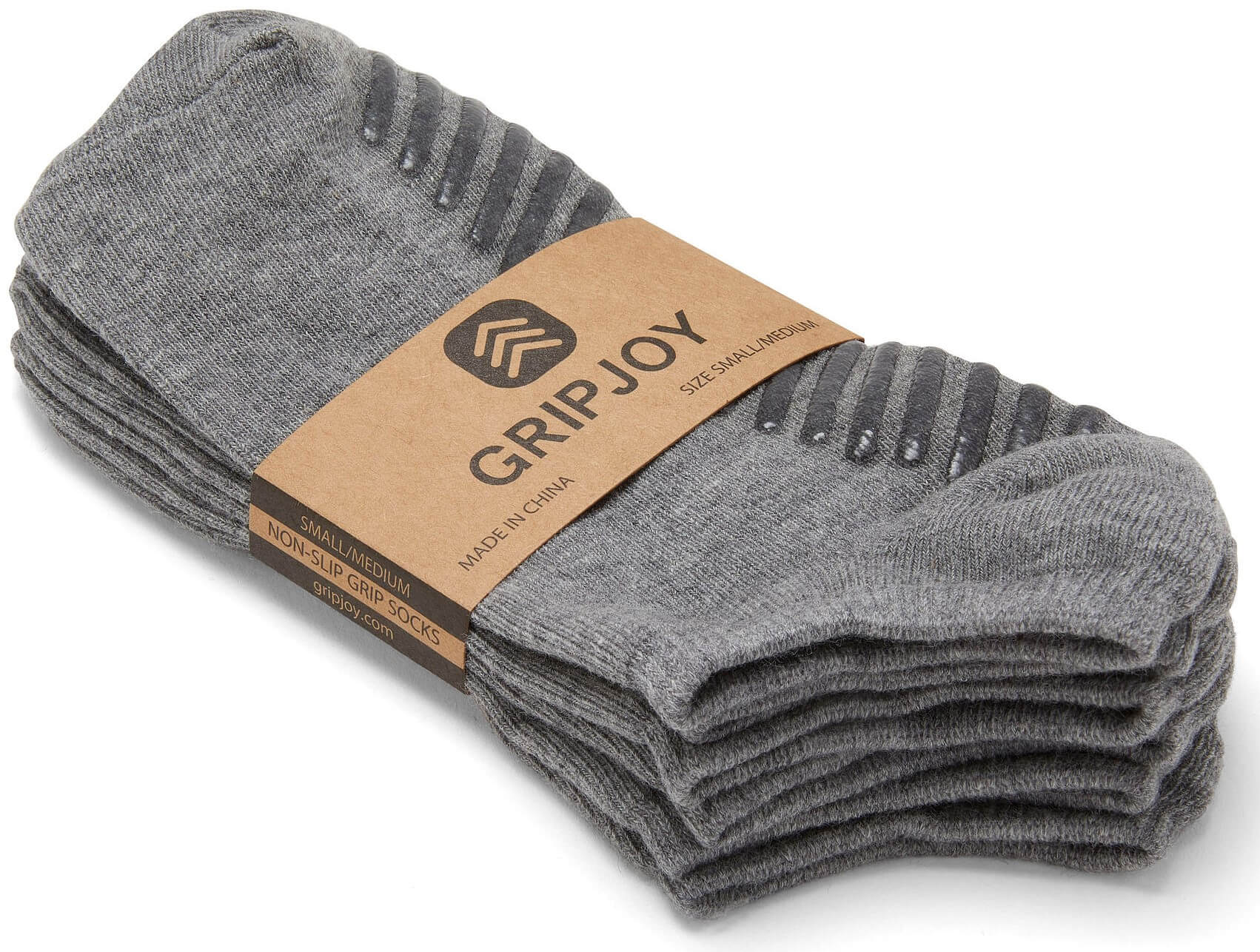 Gripjoy Women's Ankle Grip Socks Light Grey 3-Pack - Gripjoy Socks