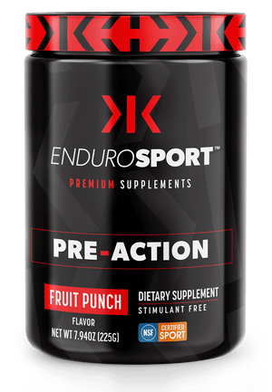 EnduroSport PRE-ACTION Premium Supplement Powder, 90 servings, Caffeine Free, Sugar Free [5-Pack]