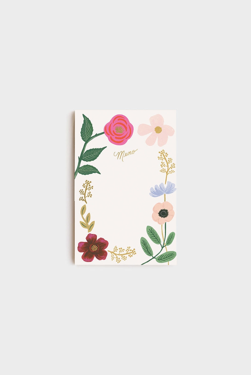 Wildflower Memo Notebook