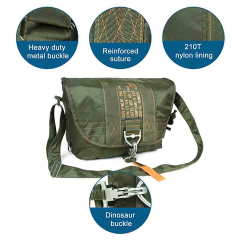 Parachute Style Messenger Shoulder Bag