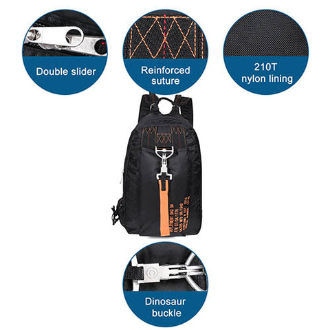 Parachute Style Outdoor Hiking Daypack